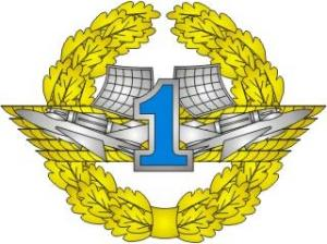 "Qualification Badge ""Specialist 1 st Class"" for contract soldiers of Air Force of the Armed Forces of Ukraine"