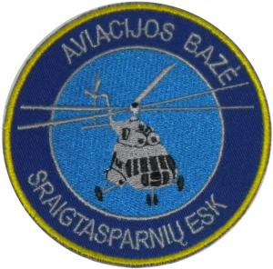 Patch of Helicopter Squadron Air Force Lithuania
