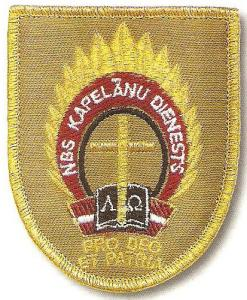 Service of military Chaplains Patch of Defence Force Latvia