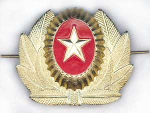 Metal Officers Badge of the Armed Forces of Kyrgyzstan