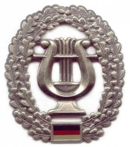 "Bundeswehr Beret Metal Insignia """"Military music service"""". Germany Federal Defence Force"