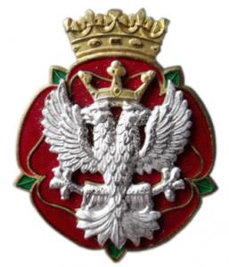 The Royal Mercian & Lancastrian Yeomanry Cap badge. British Army
