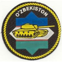 Patch of Armored Troops of the Armed Forces of the Republic of Uzbekistan. Model 1999