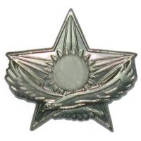 Soldiers Cap Subdued Cockade of the Armed Forces of Kazakhstan