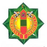 "Breastplate ""Brave border troops 1st degree"" of the Border Troops of Turkmenistan"