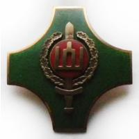 Breastplate of the school of warrant officers named General S. Rastikis. 2 degrees. Armed Forces Lithuania