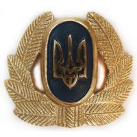 Private Soldiers, Sergeant, Warrant officer Hat / Cap Badge (metal) of Armed Forces UKRAINE