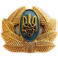 Private Soldiers, Sergeant, Warrant officer Hat / Cap Badge (plastic) of Armed Forces UKRAINE