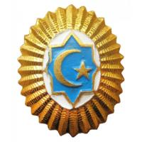 Cap / Hat Badge for officers, warrant officers and contract servicemen Uzbekistan Armed Forces