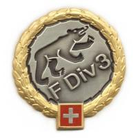 Beret Badge of 3rd Infantry Division. Swiss Army