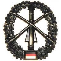 "Bundeswehr Metal Beret Insignia ""Air defence"". Germany Federal Defence Force"