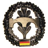 "Bundeswehr Metal Beret Insignia ""Engineering Troops"". Germany Federal Defence Force"