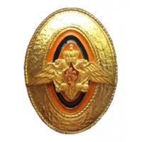 Gold Cap Badge of sergeants, soldiers and cadets of the Federal Border Service of Russia # 2