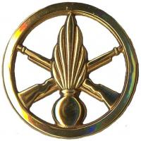 Beret metal badge of French army infantry units