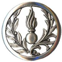 Administrative Service beret metal badge of French Army