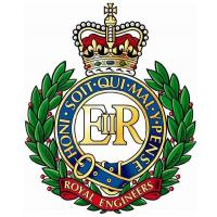 Cap Badge of the Corps of Royal Engineers. United Kingdom