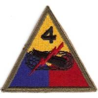 4 Armored Division Patch. US Army
