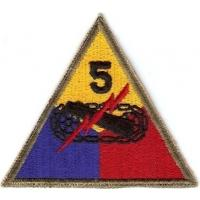 5 Armored Division Patch. US Army
