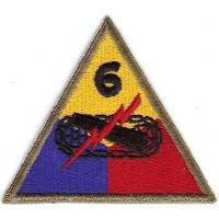 6 Armored Division Patch. US Army