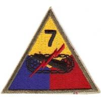 7 Armored Division Patch. US Army