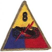 8 Armored Division Patch. US Army