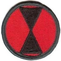 7 Infantry Division Patch. US Army