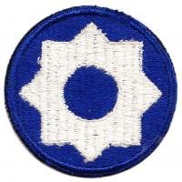 8 Corps Area Service Command Patch. US Army