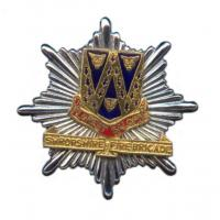 Shropshire Fire Brigade, cap badge