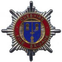 Cheshire County Fire Brigade, cap badge