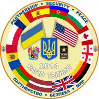 "Emblem of the Ukrainian-American tactical exercise ""Rapid Trident - 2014"""