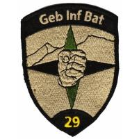 Sleeve insignia of the 29th Mountain Infantry Battalion of the Land Forces of Switzerland