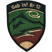 Sleeve insignia of the 12th Mountain Infantry Battalion of the Land Forces of Switzerland