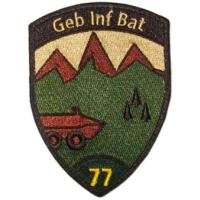 Sleeve insignia of the 77th Mountain Infantry Battalion of the Land Forces of Switzerland