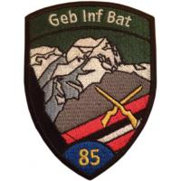85th Mountain Infantry Battalion Patch of the Land Forces of Switzerland